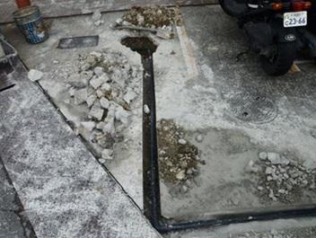 給排水設備修理・工事・調査 埋設給水管漏水による新ルート配管新設工事