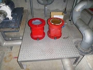消防設備点検 スプリンクラー用チャッキ弁交換工事