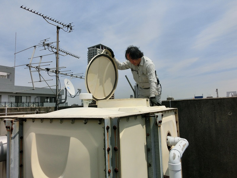 巡回設備点検 貯水槽内 目視点検