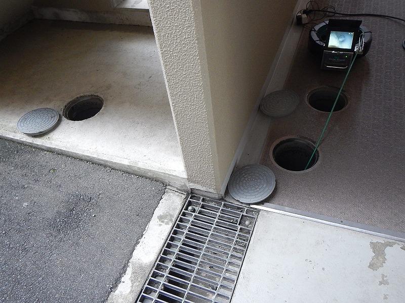 管内カメラ調査(ファイバースコープ) 排水不良調査
