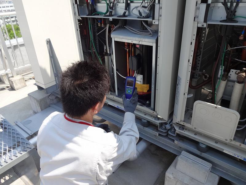 フロン排出抑制法 エアコン空調機点検 電流値測定