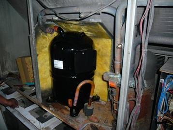 エアコン修理 コンプレッサー交換後