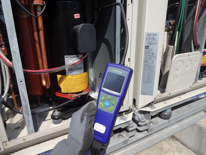 フロン排出抑制法 エアコン空調機点検 フロンガス検知器によるガス漏れ検査