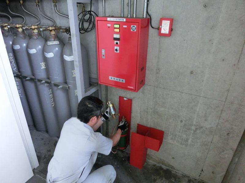 消防設備点検 ハロン消化設備点検