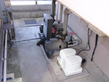 給水ポンプユニット工事 更新工事前