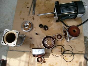 ブースターポンプ修理 メカニカルシール、Oリング等交換